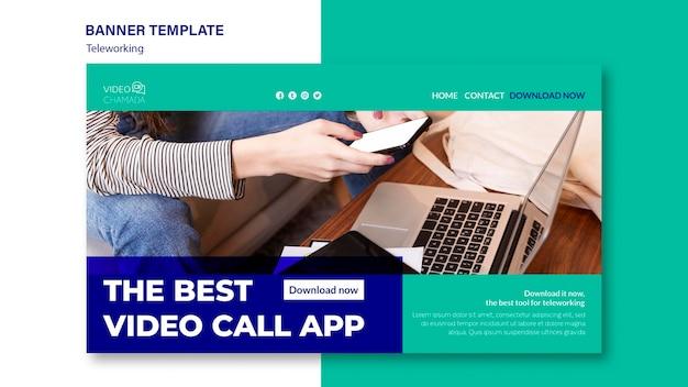 De beste banner-app voor videogesprekken Gratis Psd