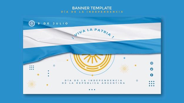 De dag van de onafhankelijkheid van argentinië banner Gratis Psd