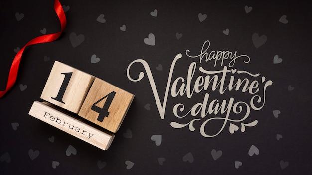 De dagconcept van de mooie gelukkige valentijnskaart Gratis Psd