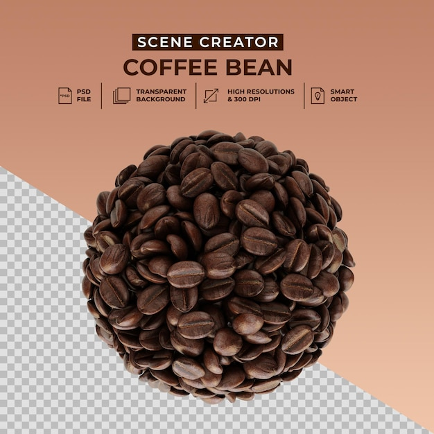 De maker van de vers gebrande scène van koffiebonen Premium Psd