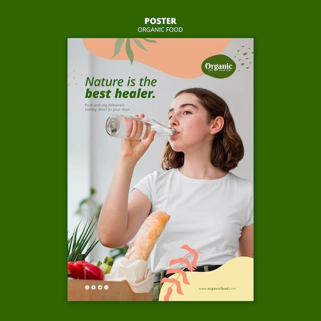 De natuur is de beste poster-sjabloon voor genezer Gratis Psd