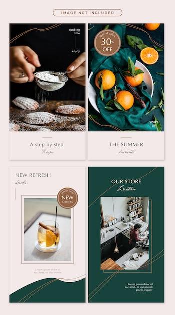 De rozemarijn sociale media verhaalsjablonen Premium Psd