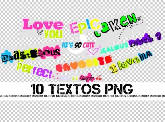 De textos png Gratis Psd
