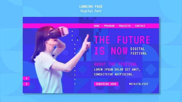 De toekomst is nu bestemmingspagina Premium Psd