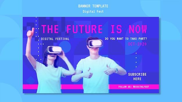 De toekomst is nu een bannermalplaatje Gratis Psd