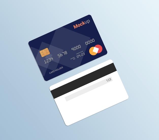 Debetkaart, creditcard, smartcard mockup sjabloon Premium Psd