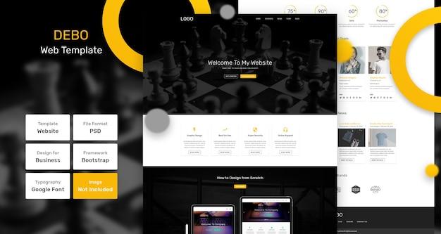 Debo-services en marketingwebsjabloon Premium Psd