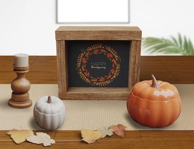 Decoratief concept op restaurantarrangementen op thanksgiving day Gratis Psd