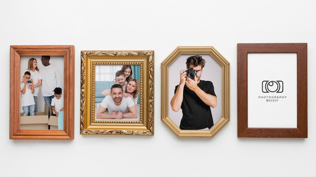 Decoratief frame concept mock-up Gratis Psd