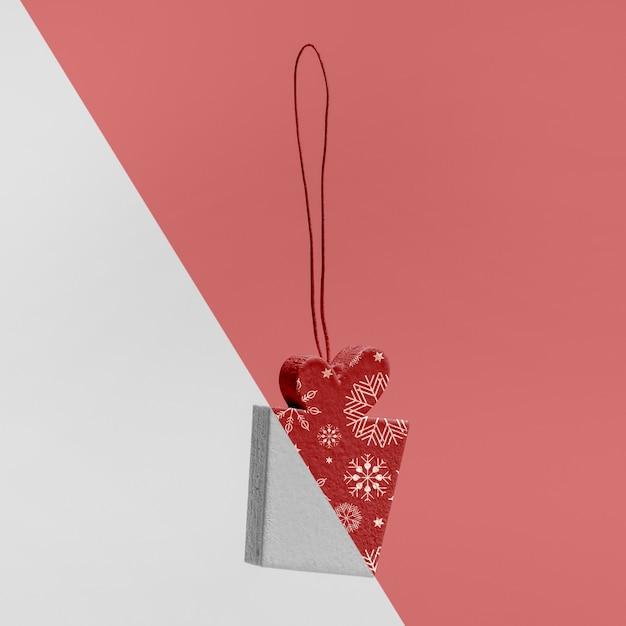 Decoratief kerstcadeau mock-up Gratis Psd