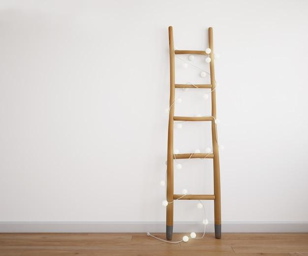Decoratieve trap met lichte slinger Gratis Psd