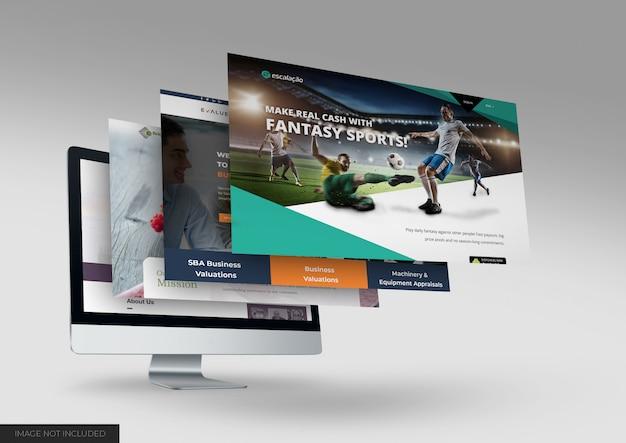 Dektop website mockup Premium Psd