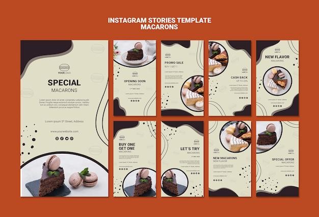 Deliziose storie di instagram macarons Psd Gratuite