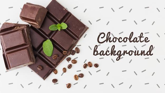 Delizioso cioccolato su sfondo bianco mock-up Psd Gratuite