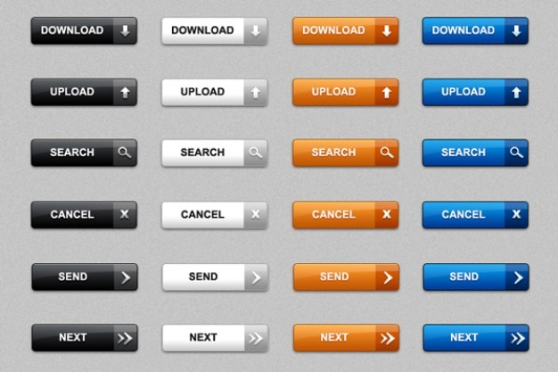 7c3d2bee9d6c0 Descargar botones web en psd y png paquete de