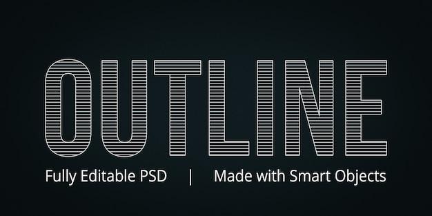 Descrivi lo stile del testo Psd Premium