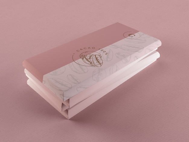 Design avvolgente in carta e cioccolato Psd Gratuite