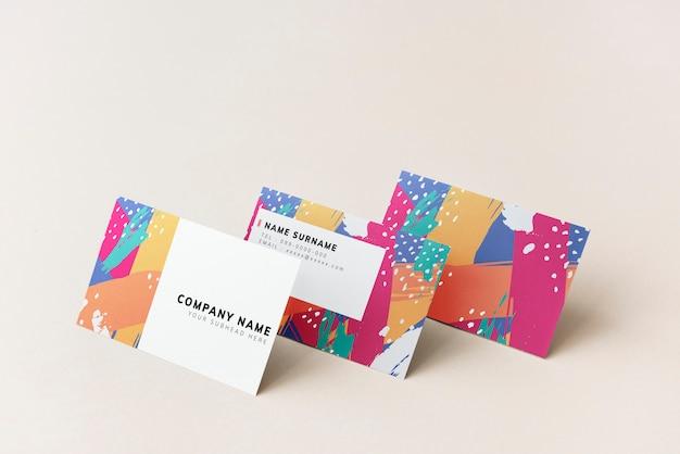 Design colorato mockup biglietti da visita Psd Gratuite