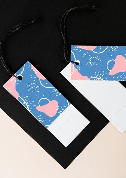 Design colorato mockup tag segnalibro Psd Gratuite