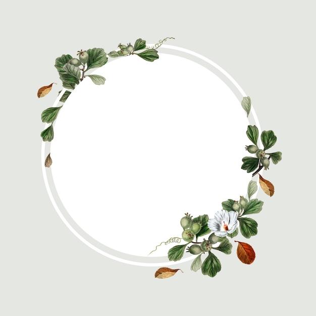 Design della cornice floreale Psd Gratuite