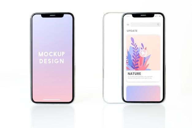 Design di mockup per smartphone a schermo intero Psd Gratuite