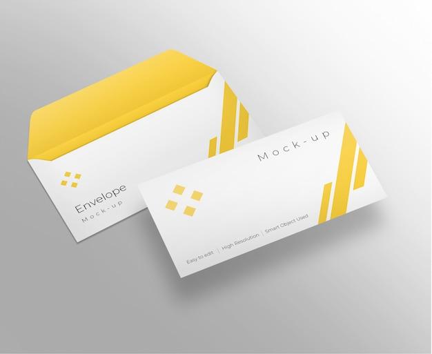 Design mockup di buste Psd Premium