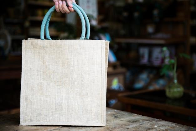 Design spazio su tote bag vuota Psd Premium