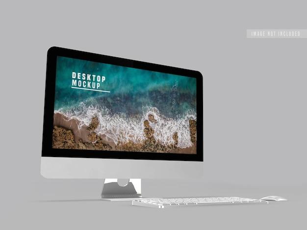 Desktop mockup ontwerpsjabloon Gratis Psd