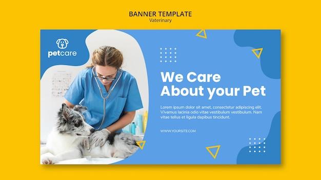 Dierenarts raadpleging van de hond veterinaire sjabloon voor spandoek Gratis Psd