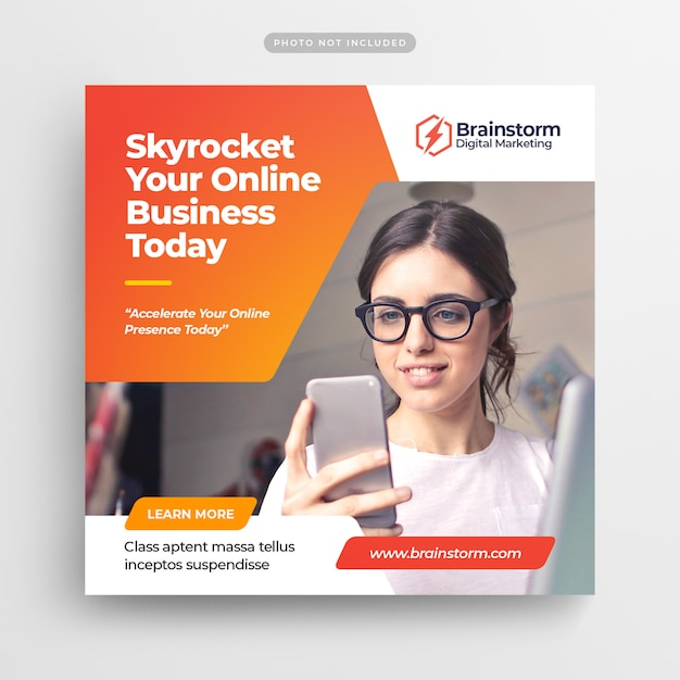 Digital business marketing social media post banner & square flyer Psd Premium