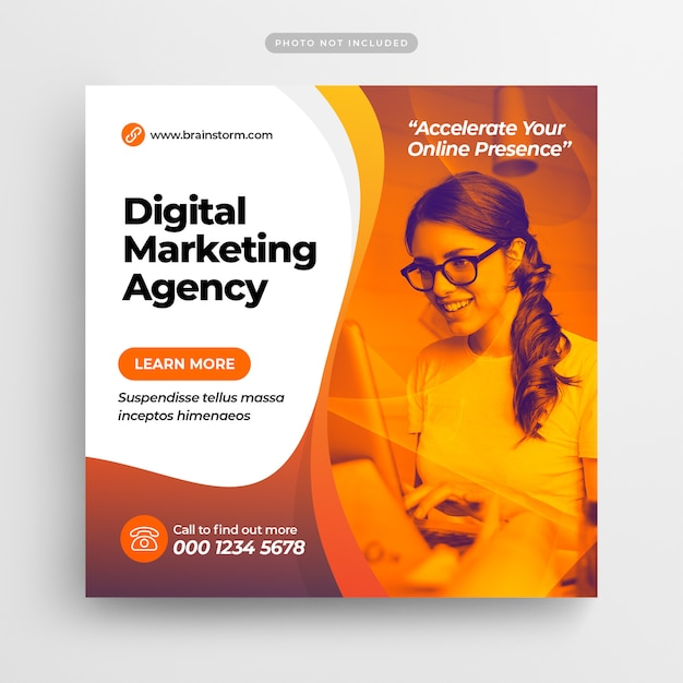 Digital business marketing social media post & web banner Premium Psd