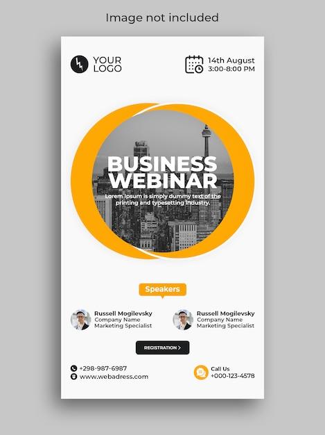 Digital marketing business webinar instagram social media verhaal Premium Psd