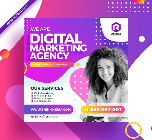 Digital marketing social media post instagram banner Premium Psd
