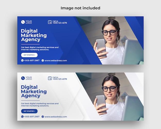 Digitale marketing facebook omslagbanner Premium Psd