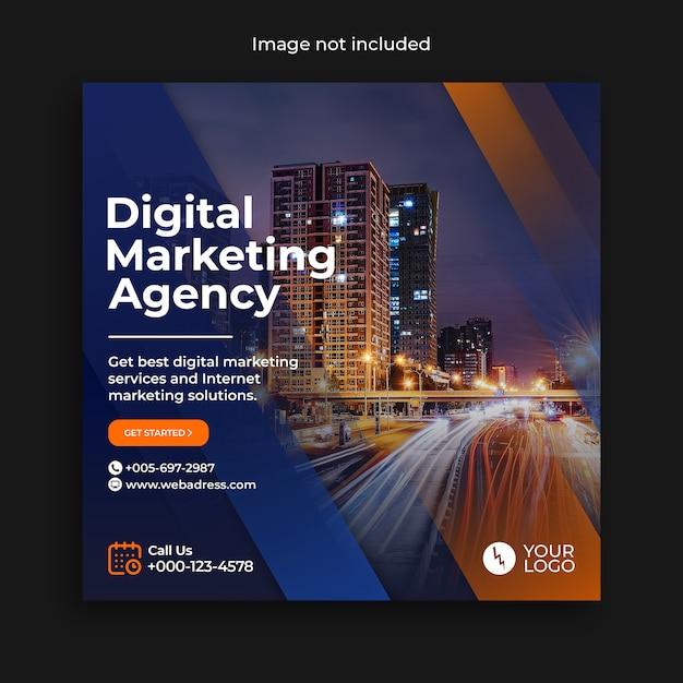 Digitale marketing instagram social media postsjabloon Premium Psd