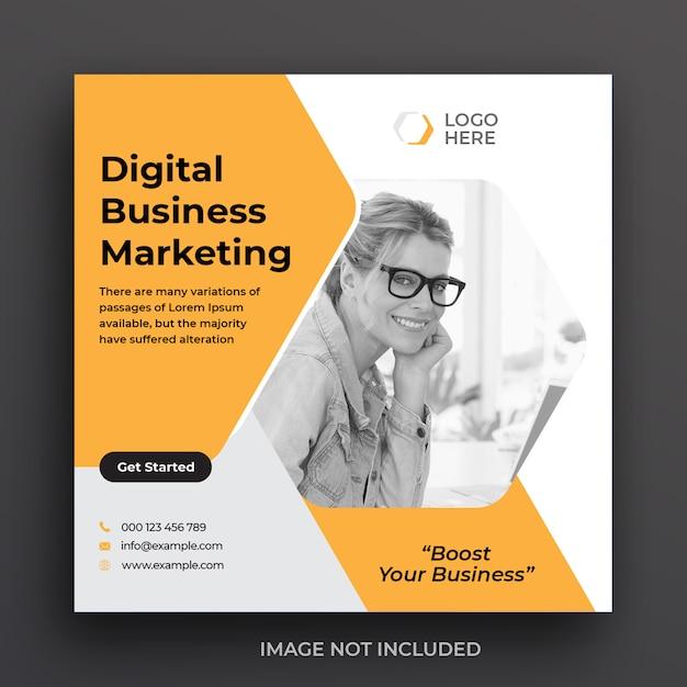 Digitale marketing zakelijke sociale media postsjabloon Premium Psd