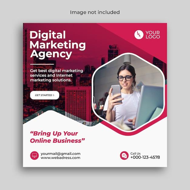 Digitale marketingbanner of postsjabloon voor sociale media Premium Psd