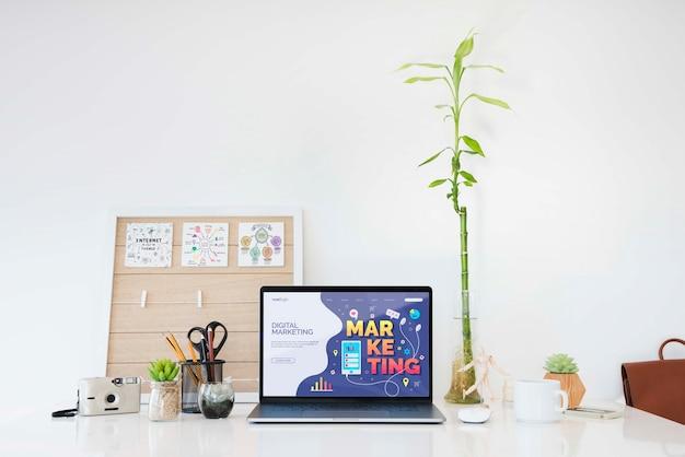 Digitale marketingbureau concept Gratis Psd