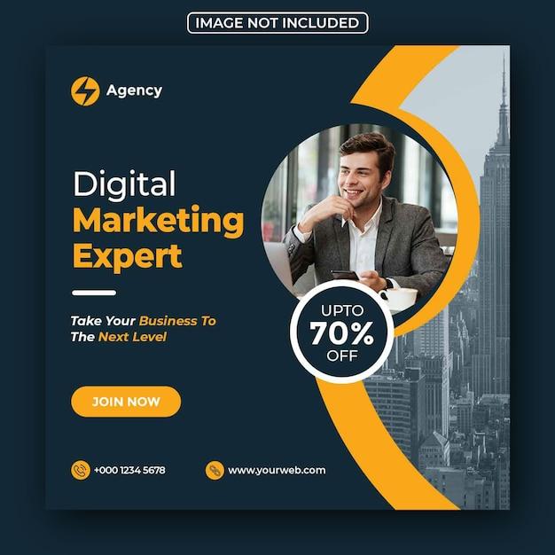 Digitale zakelijke marketing social media post en webbanner Premium Psd