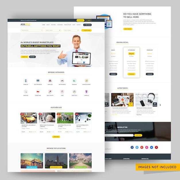 Directoryvermelding en advertentiepagina webpagina premium psd Premium Psd