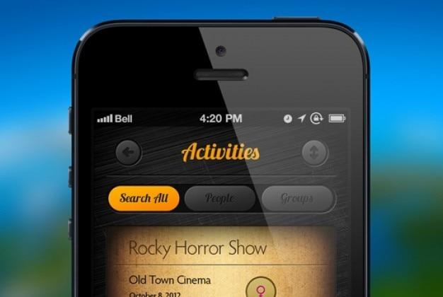 Dise o de aplicaci n de estilo retro descargar psd gratis for Aplicacion diseno de interiores gratis