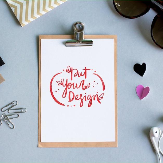 Diseño de plantilla de hoja de papel   Descargar PSD gratis