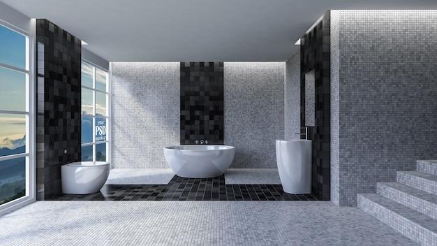 Diseño Baños 3D | Diseno Interior De Bano 3d Descargar Psd Premium