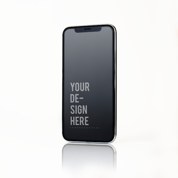 Diseño de maqueta de smartphone de pantalla completa PSD gratuito