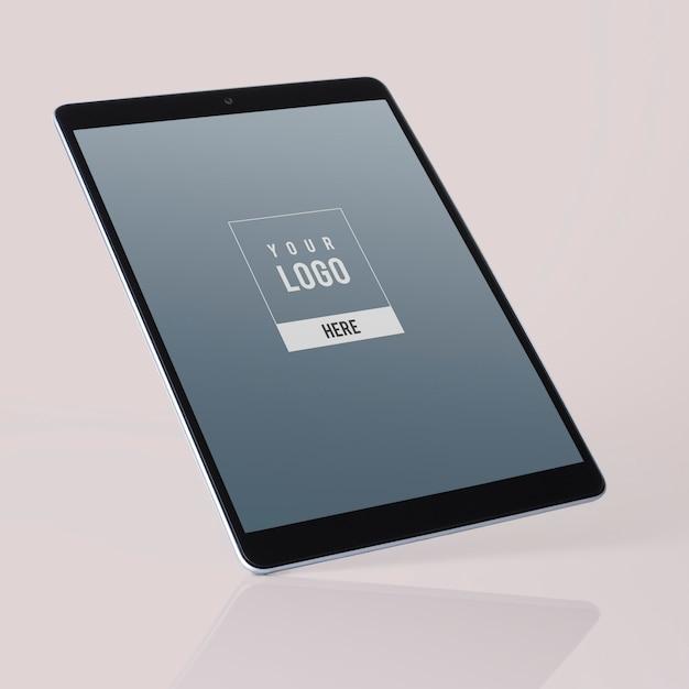 Diseño de maqueta de tableta de pantalla completa PSD gratuito