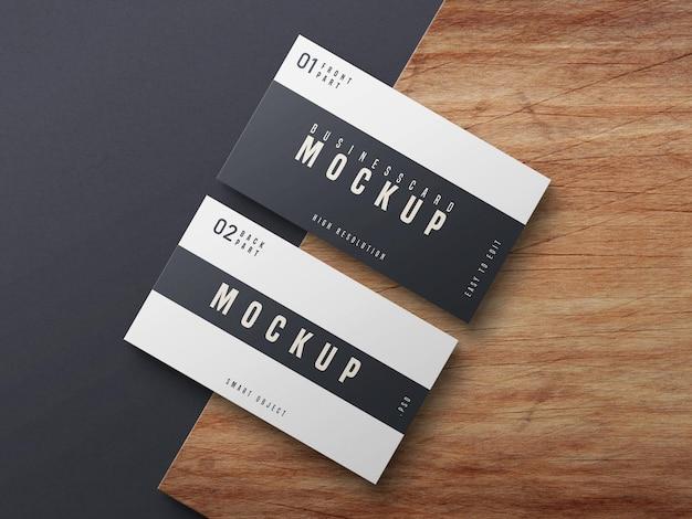 Diseño de maqueta de tarjeta de visita en blanco y negro PSD gratuito
