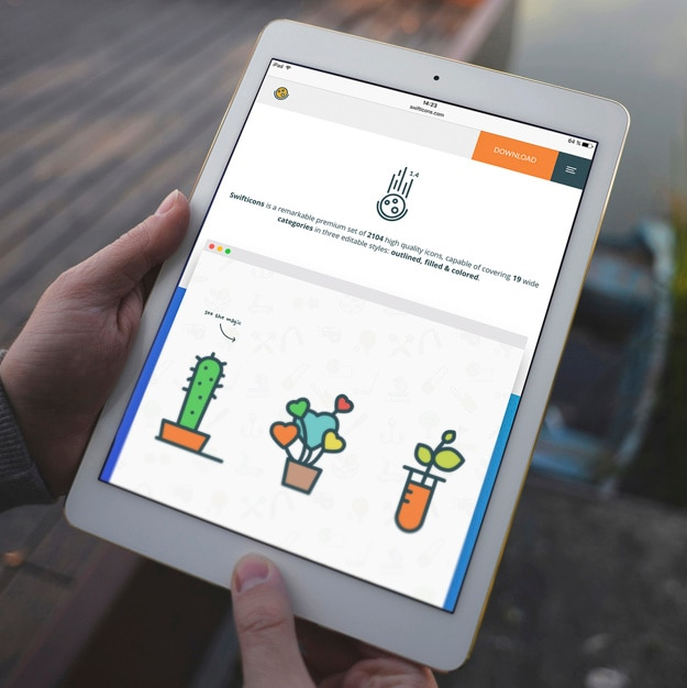 Diseño de mock up de pantalla de tableta PSD gratuito