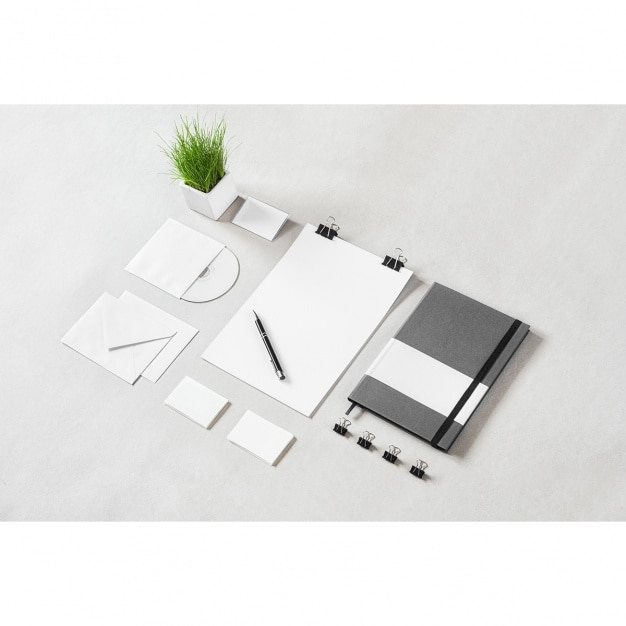 Diseño de mock up de papelería corporativa PSD gratuito