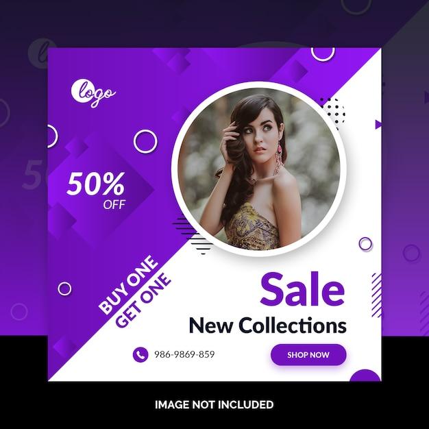 Diseño de moda en redes sociales. PSD Premium
