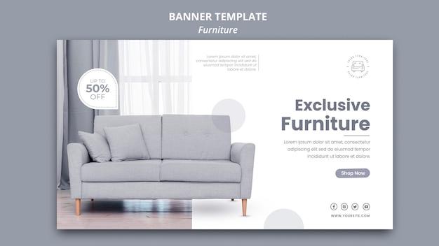 Diseño de plantilla de banner de muebles PSD gratuito
